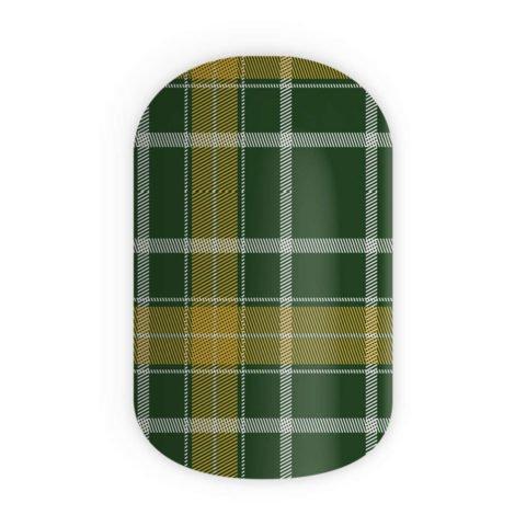 Blikka Nagelfolien Green Tartan Thumbnail