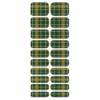 Blikka Nagelfolie Green Tartan Set