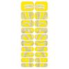 Blikka Nagelfolie Yellow Snek Set